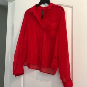 Red blouse by W118 by Walter Baker